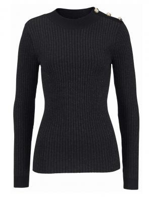 Melns sieviešu džemperis ANISTON