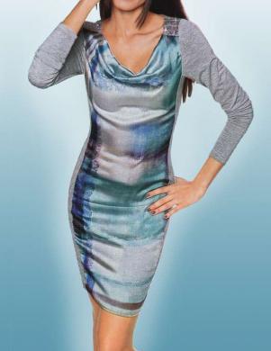 ASHLEY BROOKE krāsaina skaista sieviešu kleita
