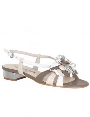 Gaišas sieviešu sandales ar puķi PATRIZIA DINI