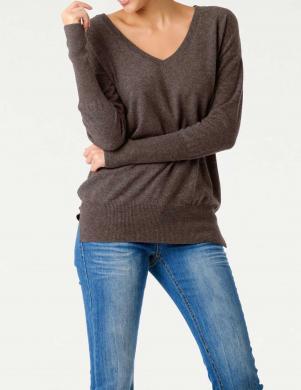 Garš brūns kašmira džemperis PATRIZIA DINI