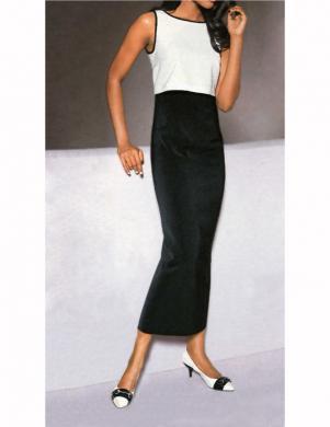 S. MADAN krēmīgas/melnas krāsas gara sieviešu kleita