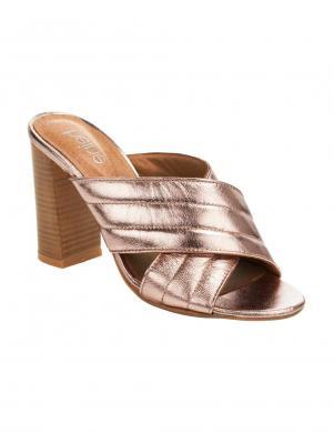 Zelta krāsas dabīgas ādas augstpapēžu apavi HEINE