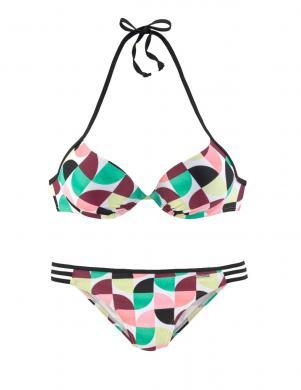 Krāsains divdaļīgs PUSH-UP peldkostīms BRUNO BANANI