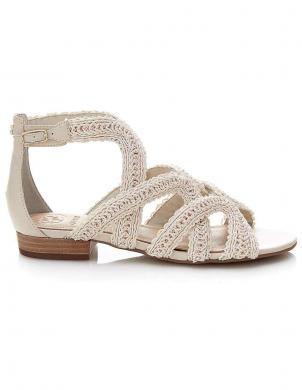Krēmīgas krāsas sieviešu sandales GUESS