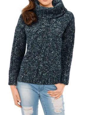 MANDARIN tumši zilas krāsas stilīgs sieviešu džemperis