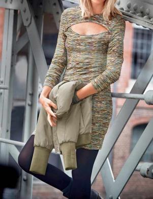 ANISTON krāsaina stilīga sieviešu kleita