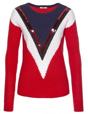 Moderns sieviešu džemperis ar spīdumiem AJC
