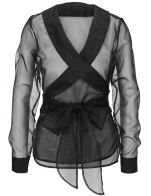 Melna eleganta organzas blūze ar kreklu HEINE