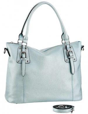 Stilīga gaiši zila sieviešu soma LAURA SCOTT