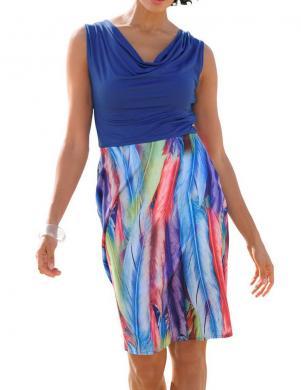 Zila krāsaina sieviešu kleita ALBA MODA