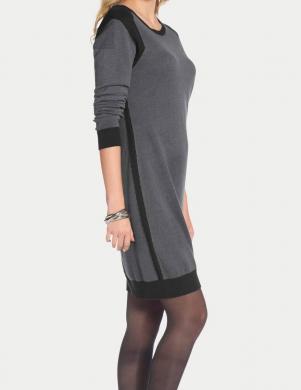 TAMARIS pelēka/melna kleita
