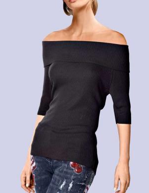 ALBA MODA melnas krāsas sieviešu džemperis