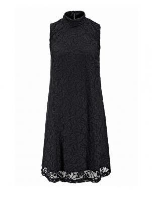 VIVANCE COLLECTION stilīga melnas krāsas kokvilna sieviešu kleita
