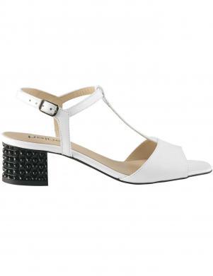Elegantas sieviešu baltas ādas sandales HEINE