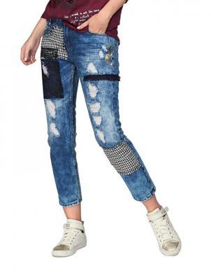 Zili stilīgi sieviešu džinsi DESIGUAL