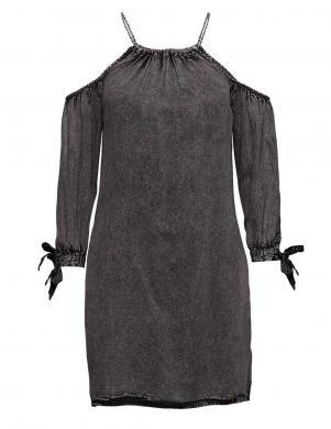 Melna kleita ar atvērtiem pleciem Superdry
