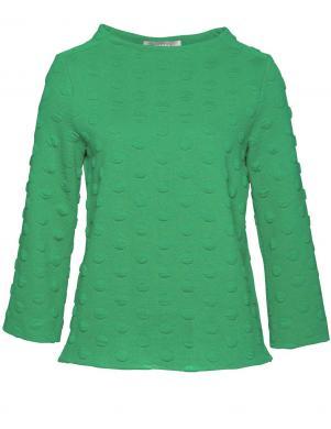 Zaļš sieviešu džemperis ar 3D rakstu BIANCA