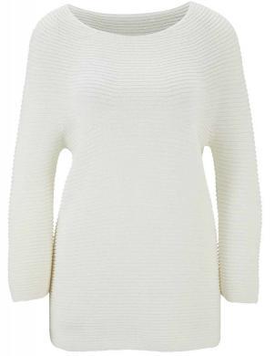 Balts kolonnu raksta džemperis LINEA TESINI