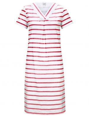 Sarkana-balta svītraina lina kleita HEINE