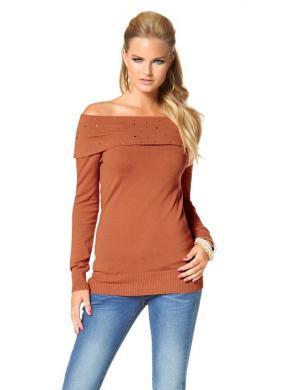 MELROSE oranžas krāsas skaists sieviešu džemperis