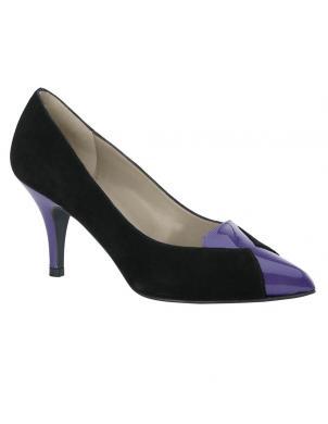Sieviešu melni zamšādas augstpapēžu apavi HEINE