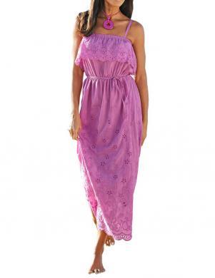 Gara izšūta violetas krāsas kleita ALBA MODA