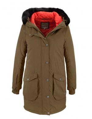 BENCH haki krāsas stilīga sieviešu jaka ar kapuci