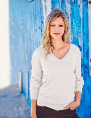 CHEER krēmīgas krāsas sieviešu džemperis