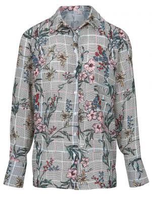Rūtains krekls ar ziedu rakstu HEINE