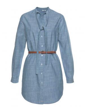 TOM TAILOR zila stilīga kleita ar jostu
