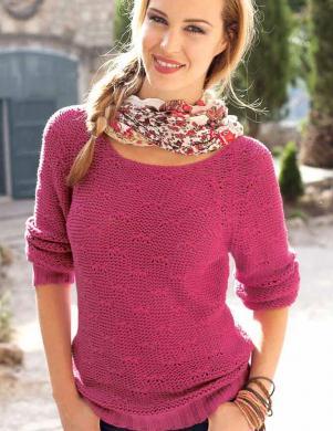 CHEER rozā sieviešu kokvilnas džemperis