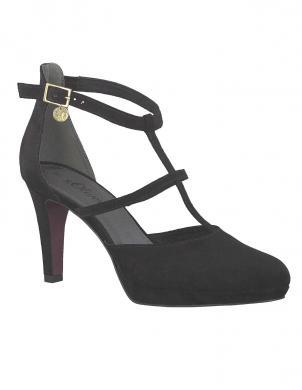 S. OLIVER melni sieviešu augstpapēžu apavi
