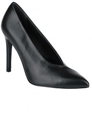 Klasiski melni sieviešu ādas augstpapēžu apavi HEINE