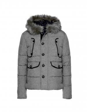 Īsa pelēka jaka ar kapuci BRUNO BANANI