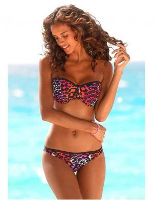 HOMEBOY krāsains divu daļu sieviešu peldkostīms