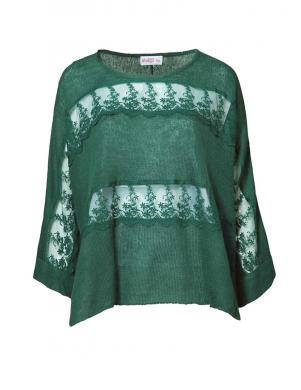 SHEEGO zaļas krāsas stilīgs sieviešu pončo