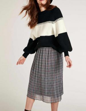 Melnas/krēmīgas krāsas sieviešu džemperis HEINE - BEST CONNECTIONS