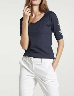 Zils krekls ar rotājumu HEINE
