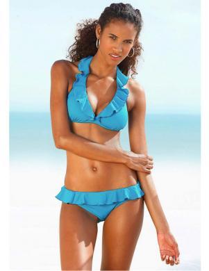 JETTE JOOP tirkīza krāsas divu daļu sieviešu peldkostīms