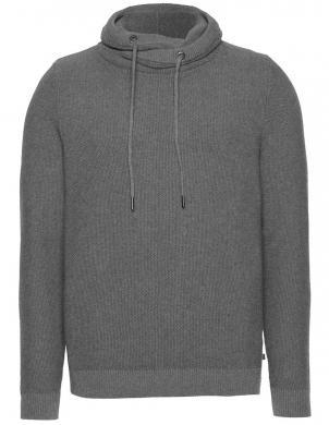 Vīriešu pelēks džemperis ar regulējamu apkakli QS BY S. OLIVER
