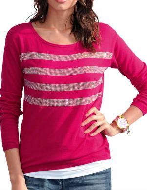 ALBA MODA rozā krāsas sieviešu džemperis