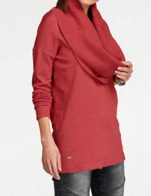 Sarkans sieviešu džemperis ar šalli LAURA SCOTT