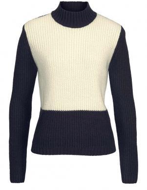 Zils ar krēmīgas krāsas priekšdaļu sieviešu džemperis TAMARIS