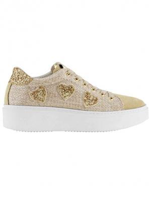 Smilšu krāsas sieviešu ikdienas apavi ar zelta krāsas detaļām HEINE