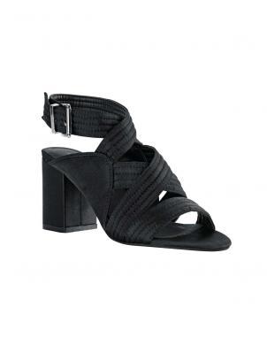 Sieviešu melnas augstpapēžu sandales HEINE