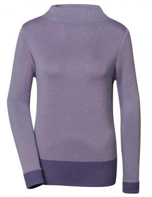 Lavandas krāsas džemperis ar augstu apkakli ar zīdu CREATION L PREMIUM