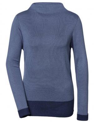 Zils džemperis ar augstu apkakli ar zīdu CREATION L PREMIUM