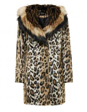 GUESS leoparda kažokādas raksta mētelis
