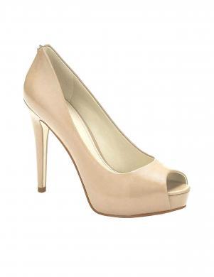 Sieviešu smilšu krāsas ādas augstpapēžu apavi GUESS
