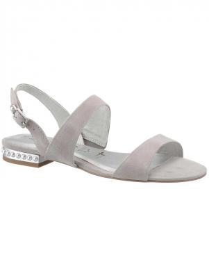 Elegantas pelēkas zamšādas sieviešu sandales  TAMARIS